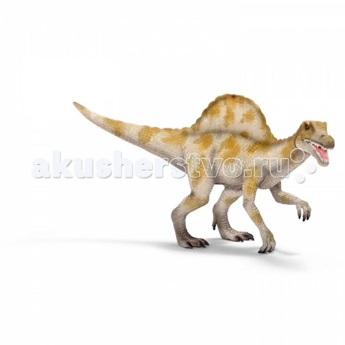 Schleich Игровая фигурка Спинозавр ДинозаврыИгровая фигурка Спинозавр ДинозаврыДинозавр Спинозавр с головой, как у крокодила, питался в основном рыбой и мясом (а именно другими динозаврами). Этот смертельно опасный хищник весил несколько тонн и достигал 17 м в длину. Мощный гребень на спине способствовал сбору тепла и распространению его по телу, а также должен был производить на врагов устрашающее воздействие.   У фигурки Спинозавра открывается пасть, от этого игра с динозаврами становится еще более увлекательной и реалистичной.   Все фигурки животных Schleich выполнены из высококачественных материалов с максимальной точностью и раскрашены вручную. Не вызывают аллергии.  Основные характеристики:  Размер упаковки: 26,5 х 8 х 14 см Размер фигурки: 26,5 х 8 х 14 см<br>