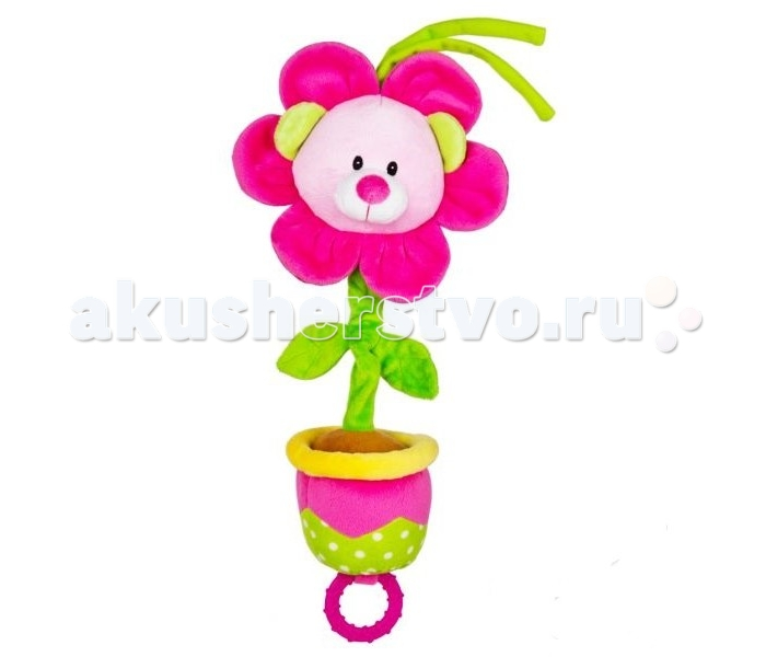 Подвесная игрушка Leader Kids Цветочек 23 смЦветочек 23 смИгрушка-подвеска Leader Kids - порадует кроху яркими цветами и милой мордочкой, а также он очень мягкий и приятный на ощупь!  Развивает воображение, цветовое восприятие, мелкую моторику, тактильные ощущения.  Изготовлена игрушка из высококачественных и безопасных материалов, поэтому подойдет для игры самых маленьких.<br>