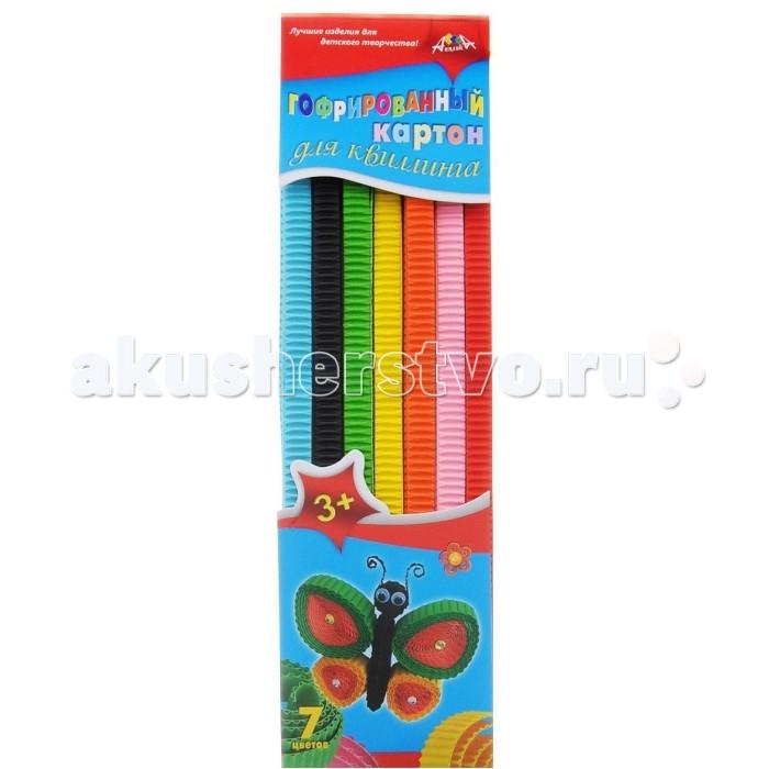 Апплика Цветной картон для гофроквиллинга 7 цветов обложка Бабочка