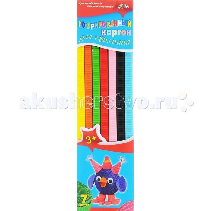 Апплика Цветной картон для гофроквиллинга 7 цветов обложка Сова