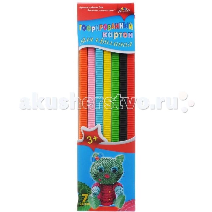 Апплика Цветной картон для гофроквиллинга 7 цветов обложка Кошечка
