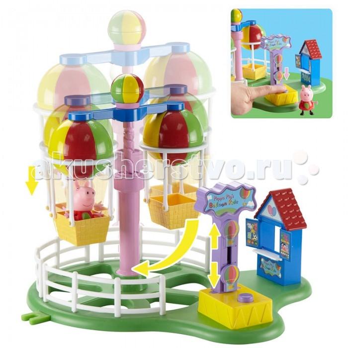 Peppa Pig Игровой набор Карусель Луна ПаркИгровой набор Карусель Луна ПаркPeppa Pig Игровой набор Карусель Луна Парк создан по мотивам популярного мультипликационного сериала, который любят дети по всему миру.   Особенности: С этим набором ребенок может устроить для любимого персонажа веселый выходной, свинку можно прокатить на карусели которая двигается вверх и вниз и вращается вокруг оси. Также в этом мини парке есть касса для продажи билетов, что сделает игру реалистичней.  На карусели два посадочных места, так что компанию веселой свинке Peppa Pig сможет составить любая другая подходящая по размеру игрушка.   Размер игровой площадки с опущенной каруселью: 27 х 20 х 17 см. Размер игровой площадки с поднятой каруселью: 27 х 20 х 25 см. Высота фигурки: 5.5 см.<br>