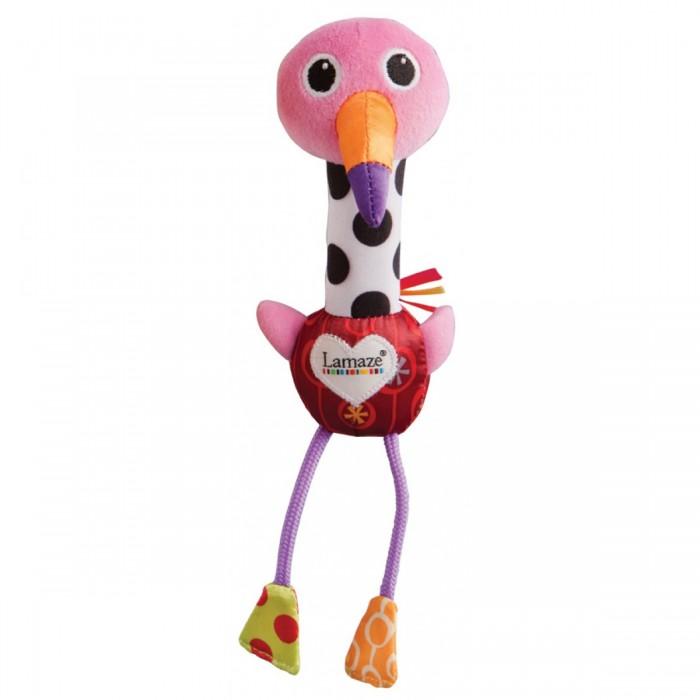 Развивающая игрушка Lamaze Веселый фламингоВеселый фламингоЭтот фламинго не простой - если малыш потрясет игрушку, то услышит, как она пищит.   Разноцветные лапки игрушки хрустят, а туловище выполнено из разнофактурного материала.   Красочная игрушка развивает сенсорное восприятие и мелкую моторику рук.<br>