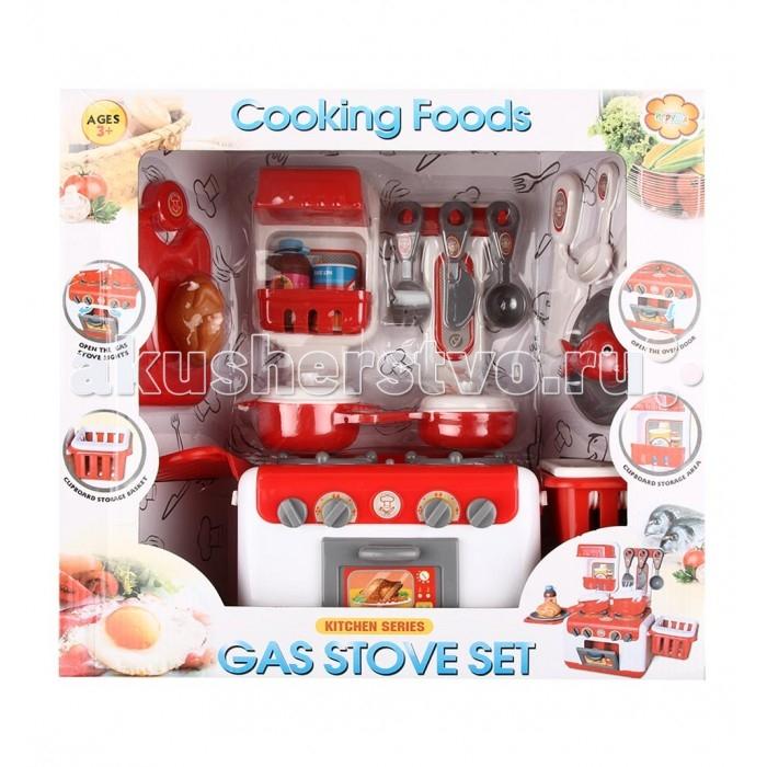 Игруша Печь с посудой и продуктамиПечь с посудой и продуктамиПечь с посудой и продуктами - превосходный набор для Вашей малышки в качестве первой кухни. В набор входит печь с конфорками, посудка и продукты. Кухня работает от батареек, имеет световые и звуковые эффекты. Набор очень удобен в хранении и не занимает много места.<br>