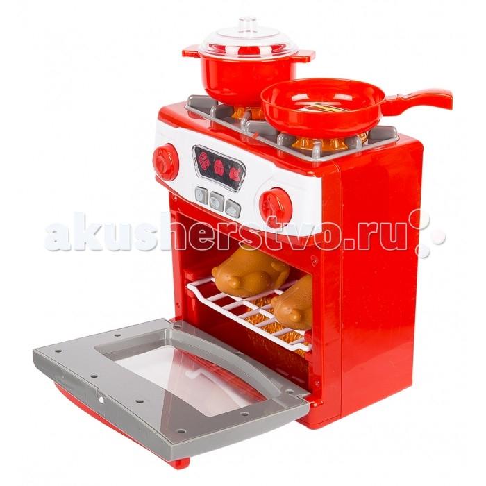 Игруша Набор плита на батарейкахНабор плита на батарейкахНабор плита на батарейках - непременно порадует юную хозяйку. Ведь самое важное на кухне- это плита. С такой плитой не составит труда приготовить завтрак, обед или ужин для любимых игрушек. Плита имеет световые и звуковые эффекты.  Размер игрушки: 20х17 см<br>