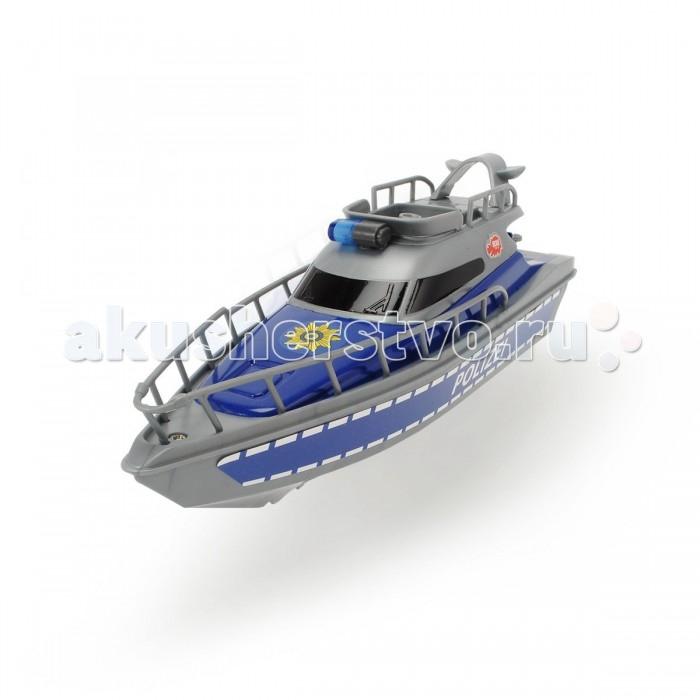 Dickie Полицейская лодка 23 смПолицейская лодка 23 смDickie Полицейская лодка 23 см - это игрушка, которая может плавать по воде. Это действие происходит благодаря работе мотора внутри лодки, питание которого осуществляется от батарейки.   Особенности: Корпус этого плавательного судна изготовлен из легких и прочных материалов, поэтому лодка хорошо держится на воде. Используя фигурки полицейских из других наборов, ребенок может разместить их на палубе этого быстроходного служебного судна и отправиться в воображаемую погоню за преступниками, преследуя их по всему водному пространству.<br>