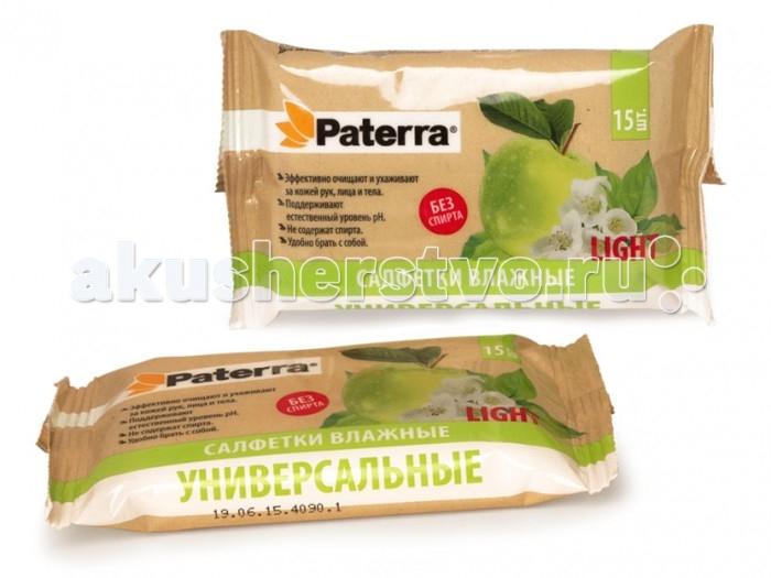 Paterra Влажные салфетки универсальные Light 15 шт.