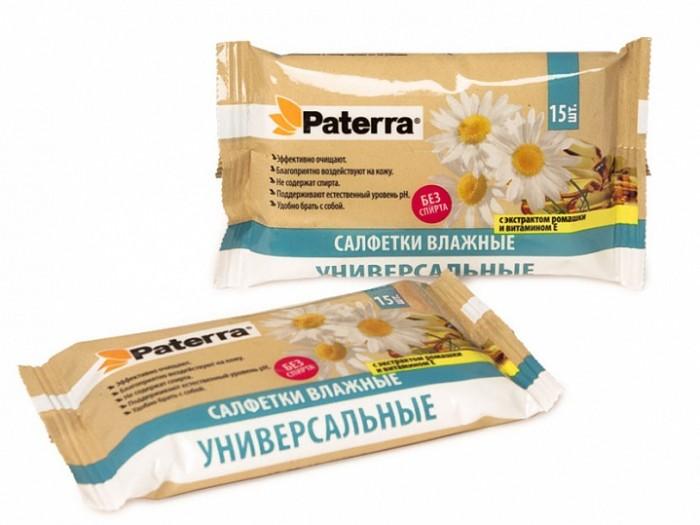 Paterra Влажные салфетки с экстрактом ромашки и витамином Е 15 шт.