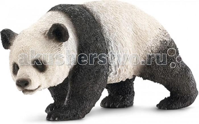 Schleich Игровая фигурка ПандаИгровая фигурка ПандаФигурка пятнистой крупной панды обязательно понравится всем любителям этих очаровательных животных и разнообразит сюжетно-ролевые игры вашего ребенка. Более 14 часов в сутки панды тратят на то, чтобы собрать свое любимейшее лакомство – бамбук. Размер панды составляет до  1,5 метров в длину, продолжительность их жизни – около 20 лет. Сейчас эти великолепные животные находятся на грани исчезновения, и ученые всего мира призывают к их сохранности, чего можно достичь разведением панд в зоопарках.  Все фигурки Schleich сделаны из гипоаллергенных высокотехнологичных материалов, раскрашены вручную и не вызывают аллергии у ребенка.  Прекрасно выполненные фигурки Шляйх отличаются высочайшим качеством игрушек ручной работы. Все они создаются при постоянном сотрудничестве с Берлинским зоопарком, а потому, являются максимально точной копией настоящих животных. Каждая фигурка разработана с учетом исследований в области педагогики и производится как настоящее произведение для маленьких детских ручек.  Основные характеристики:  Размер фигурки: 4,1 x 9,9 x 5,1 см Вес фигурки: 82 г<br>