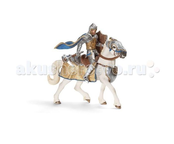 Schleich Игровая фигурка Рыцарь на коне Орден ГрифонаИгровая фигурка Рыцарь на коне Орден ГрифонаЭтот рыцарь Ордена Грифона вооружен необычным оружием, молотом в форме клюква хищной птицы. Воин сам изготовил для себя это орудие, которому нет равных уже потому, что его враги никогда не видели такого оружия Никто не может сравниться с этим рыцарем по силе удара, только завидев его издали, соперники обращаются в бегство.   Фигурки Рыцарь Грифона на коне, раскрашенные вручную, сделаны из безопасного материала – каучукового пластика. Компания Schleich, которая специализируется на выпуске детских игрушек, знакомящих с окружающей средой, развивающих творческое мышление, мелкую моторику рук.  Всадник надежно крепится к дракону с помощью магнитов, встроенных в фигурки.<br>