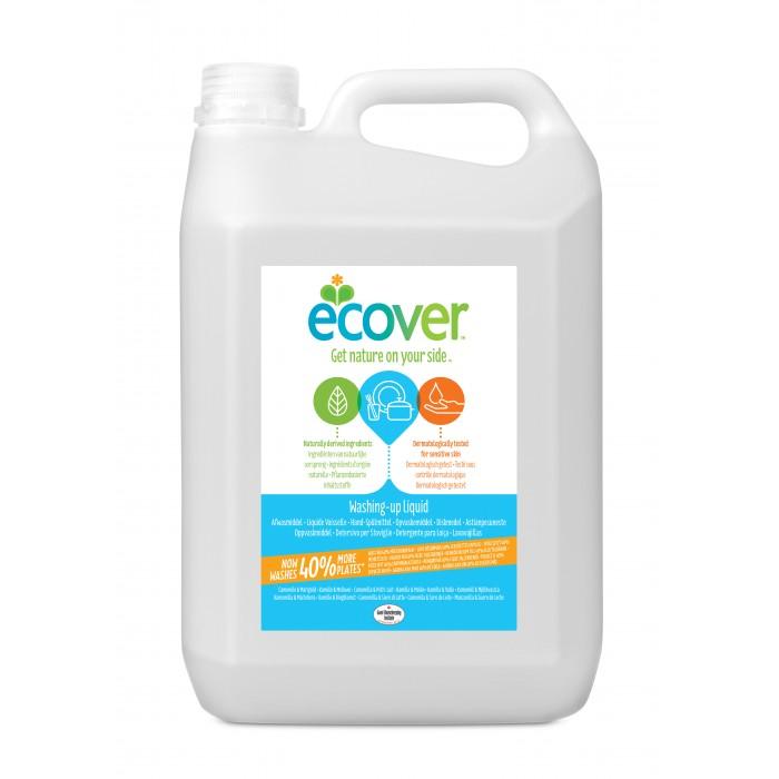 Ecover Экологическая жидкость для мытья посуды с ромашкой и молочной сывороткой 5 лЭкологическая жидкость для мытья посуды с ромашкой и молочной сывороткой 5 лEcover Экологическая жидкость для мытья посуды с ромашкой и молочной сывороткой 5 л  Особенности: Свежий аромат из компонентов на растительной основе, не содержит синтетических ароматизаторов Эффективно очищает и обезжиривает Не содержит ингредиентов наносящих ущерб коже Не оставляет химикатов на посуде Экологические препараты Эковер созданы только на растительной и минеральной основе, не содержат нефтепродуктов  Преимущества: Быстро и полностью биоразлагаемая (OECD-test 301F, весь продукт) Не наносит ущерба окружающей среде и источникам воды (OECD-test 201&202, весь продукт) Не тестируется на животных  Применение: Нанести небольшое количество жидкости на губку, намылить посуду и смыть. Жидкость для мытья посуды Эковер эффективна без большого количества пены.<br>