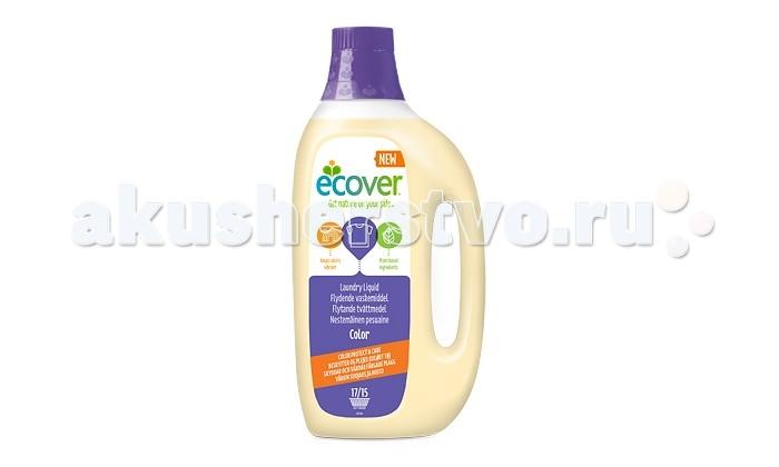Ecover Экологическая жидкость для стирки цветного белья 1.5 лЭкологическая жидкость для стирки цветного белья 1.5 лEcover Экологическая жидкость для стирки цветного белья 1.5 л  Идеальное концентрированное средство для бережной стирки цветного белья. Особенно хорошо подходит для людей с чувствительной кожей, младенцев и детей, так как полностью выполаскивается не оставляя активных веществ на ткани. Сохраняет и защищает цвет, оставляя его ярким и насыщенным. Колпачок можно использовать в качестве мерной емкости.  Не содержит фосфатов, отбеливателей, энзимов, синтетических ароматизаторов. Уровень pH: 8.5. Подходит для использования в домах с автономной канализацией. Не наносит вреда любым видам септиков!  Способ применения: Экологическая жидкость для стирки подходит для использования при температурах от 30 до 60 С.  Машинная стирка: Используйте 2+1/3 колпачка жидкости на загрузку машины в случае, если загрязнение обычное и вода средней жесткости. Для сильно загрязненных вещей и жесткой воды увеличьте дозу. Уменьшите дозу для мягкой воды. Количество средства на одну полную загрузку машины (4-5 кг сухого белья): 1 колпачок (~35 мл).  Ручная стирка: Добавьте 1,5 колпачка жидкости на 5 литров теплой воды. Стирайте и полоскайте как обычно. Воду, оставшуюся после применения экологической жидкости для стирки, можно использовать для поливки сада и комнатных растений.<br>