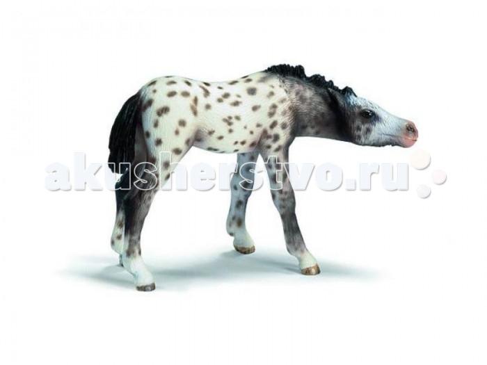Schleich Игровая фигурка Кнабстрапер жеребенокИгровая фигурка Кнабстрапер жеребенокКнабструпер - редкая порода лошадей голландского происхождения, имеющая мало встречающуюся пятнистую окраску. Но столь редка лошадка может с легкостью оказаться у вас дома в виде маленькой пластмассовой фигурки компании Schleich. Выполненная с детальной точностью игрушка является отличной копией живой особи. Крохотный жеребенок слегка согнул ножки и не совсем обычно склонил книзу вытянутую шею. Все его беленькое тело покрыто мелкими коричневыми пятнышками. Фигурка изготовлена из качественной пластмассы, что не вызовет у карапуза аллеркгии. Она станет отличной игрушкой для малыша и хорошим экземпляром для пополнения коллекции взрослого человека.  В серии  Домашние животные представлены все животные, которые окружают нас дома или на даче. С помощью отдельных элементов можно создавать целые фермы. Очень широко представлена коллекция лошадей.   Все фигурки выполнены из высококачественных материалов  с максимальной точностью и раскрашены в ручную. Не вызывает аллергии.<br>