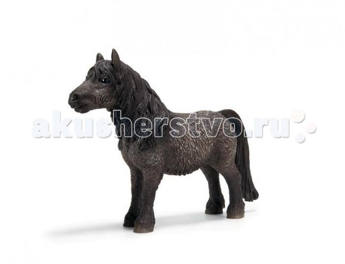 Schleich Игровая фигурка Шетланд пони ЖеребецИгровая фигурка Шетланд пони ЖеребецШетландские пони родом с Шетландских островов, что расположены на северо-востоке от Шотландии. Маленькая коренастая крепенькая лошадка быстро набрала популярность во всем мире. Она стала любима людьми за свою выносливость, силу. Кроме того такое пони очень дружелюбно. Шетландскую лошадку обычно использовали для работы в полях и шахтах.   Компания Schleich подготовила отлично детализированную копию столь героического животного, которой ребенку будет приятно играть и любоваться. Выполнена фигурка из материалов высокого качества, да к тому же еще и раскрашена вручную. Изготовлялась игрушка при тесном сотрудничестве со специалистами из берлинского зоопарка, от чего и стала столь похожей на оригинал. Игрушка имеет довольно маленький размер. Она с легкостью поместится на ладони.  В коллекцию данной компании входят множество подобных фигурок животных, а благодаря реалистичности всех игрушек, они будут интересны не только детям, но и взрослым.<br>