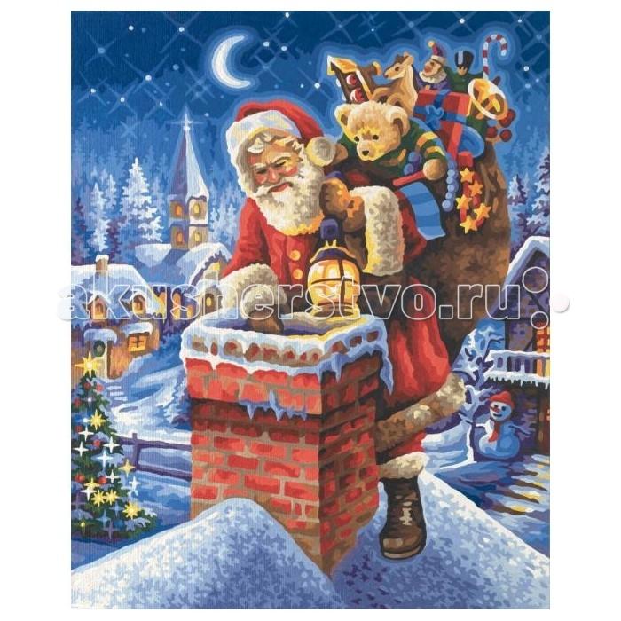 Schipper Картина по номерам Санта Клаус на крыше 40х50 смКартина по номерам Санта Клаус на крыше 40х50 смSchipper Раскраска по номерам Санта Клаус на крыше 40х50 см без смешивания красок.  Особенности: Все необходимые цвета красок есть в комплекте. Просто закрашивайте участки красками с соответствующим номером. В набор также входит фактурная картонная основа с пронумерованными контурами, кисть и контрольный лист, на котором вы можете потренироваться, прежде чем переходить к раскрашиванию основного листа. Акриловые краски в данном наборе содержатся в очень плотно закрытых контейнерах. Благодаря этому, краски доходят до покупателя, сохранив свои свойства.  Комплектация: Картонная основа Акриловые краски Кисть Контрольный лист<br>