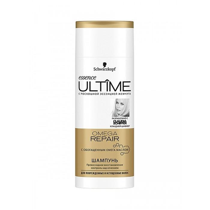 Schwarzkopf Essence Ultime Шампунь для поврежденных и истощенных волос Omega repair 250 млEssence Ultime Шампунь для поврежденных и истощенных волос Omega repair 250 млEssence Ultime Шампунь для поврежденных и истощенных волос Omega repair 250 мл - это превосходное восстановление, контроль над сечением с обогащенным омега-маслом. Уникальная формула шампуня содержит ценный ULTIME-4. Комплекс - сочетание эссенции жемчуга, пантенола, протеинов и кератина.  Аромат средств, созданный парфюмерами индустрии моды, - это нотки свежих фруктов и нежных цветов в обрамлении сандалового дерева, белого мускуса и ванили.  Способ применения: Нанести на влажные волосы вспенить и смыть.<br>