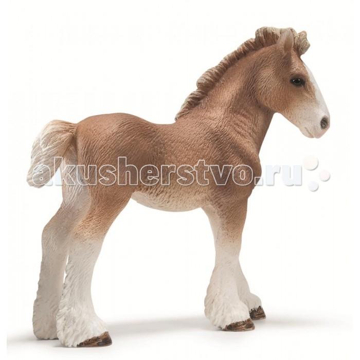 Schleich Игровая фигурка Клейдесдальский жеребенокИгровая фигурка Клейдесдальский жеребенокКлейдесдальская порода лошадей, являющихся тяжеловозами, была выведена в Англии, в долине реки Клейд. Лучшие из представителей отличаются высоким ростом, широким обхватом груди и пясти. При столь мощном телосложении клейдесдальская лошадь обладает свободной рысью и широким производительным шагом.  Масть таких скакунов гнедая главным образом. Желая полюбоваться этой лошадкой, не обязательно странствовать по зоопаркам, достаточно просто приобрести маленькую, но превосходно детализированную фигурку торговой марки Schleich. Пластмассовая игрушка практически по всем внешним признакам соответствует своему крепкому, мускулистому оригиналу.  Данная модель представлена в виде очаровательного жеребенка.  В серии Домашние животные представлены все животные, которые окружают нас дома или на даче. С помощью отдельных элементов можно создавать целые фермы. Очень широко представлена коллекция лошадей.   Все фигурки выполнены из высококачественных материалов с максимальной точностью и раскрашены в ручную. Не вызывает аллергии. Великолепно выполненные и раскрашенные вручную животные, созданные при тесном сотрудничестве с Берлинским зоопарком, никого не оставят равнодушными. В разработке каждой фигурки компания Schleich опирается на исследования в области педагогики, создавая маленькие произведения для маленьких ручек.<br>