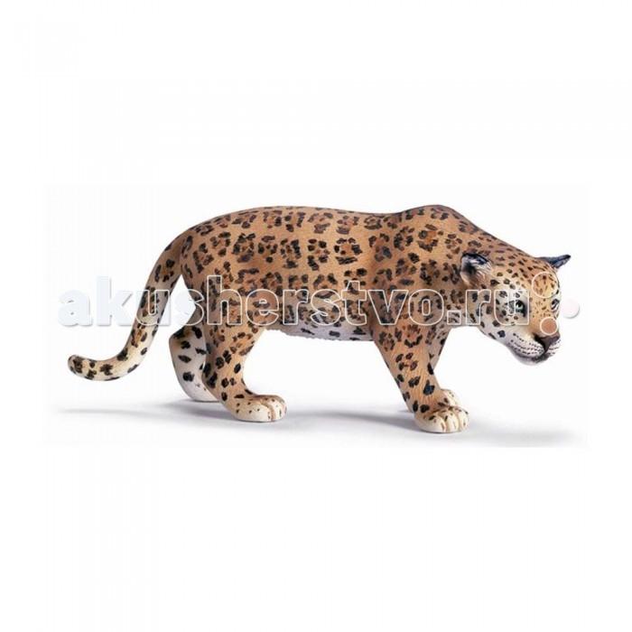 Schleich Игровая фигурка Ягуар Животные зоопаркаИгровая фигурка Ягуар Животные зоопаркаЯгуар относится к семейству кошачьих, третий самый крупный представитель этого семейства. Обитает в Северной и Южной Америке. Ягуар предпочитает жить один, у каждой особи своя территория, которая может достигать 100 квадратных километров. Охотится ягуар в сумеречное время, утром и вечером . Охотится ягуар на различных парнокопытных, также на птиц, змей, лисиц и даже черепах.  Фигурка в виде ягуара может стать приятным пополнением вашей коллекции разнообразных статуэток, ведь при ее изготовлении были учтены все нюансы внешнего вида хищной кошечки, вплоть до последнего пятнышка, до мягких подушечек на широких лапках.  Также небольшая по размера игрушка произведет приятное впечатление на детей, которым захочется пощупать руками кису. Внимательно разглядывая фигурку, малыши запомнят еще одного представителя экзотических животных.  Основные характеристики:  Размер фигурки: 11.5 &#215; 4.5 &#215; 5 см<br>