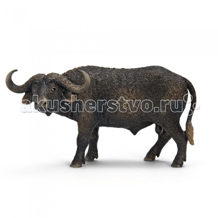 Schleich Игровая фигурка Бык Африканский буффалоИгровая фигурка Бык Африканский буффалоАфриканский буйвол или черный буйвол, как его еще называют – широко распространенный в Африке вид быков.  Африканский буйвол по размерам самый крупный из современных особей. Вес взрослых самцов иной раз превышает 1000 кг. Весь покрытый редкой грубой черной шерстью он имеет очень грозный вид. Мощное телосложение, низко посаженая голова, широкие передние копыта, длинный хвост, большие уши, а также острые рога – все это детально изображает пластмассовая фигурка от Schleich, которая будет отличной игрушкой для малыша или хорошим украшением для шкафа.<br>