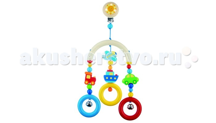 Подвесная игрушка Heimess Трапеция ТранспортТрапеция ТранспортHeimess Трапеция Транспорт 735950  Подвесная деревянная игрушка с разноцветными бусами с веселыми принтами в виде транспорта и с забавным колокольчиком. Эта восхитительная подвесная игрушка для коляски является идеальным аксессуаром для тростей, кроваток и колясок, которая будет стимулировать, успокаивать и радовать вашего малыша.  Деревянные детские игрушки и аксессуары HEIMESS изготовлены с использованием нетоксичных, слюноустойчивых красок и древесины высокого качества, которые являются безопасными для вашего ребенка.  Размер: 17.5 см<br>