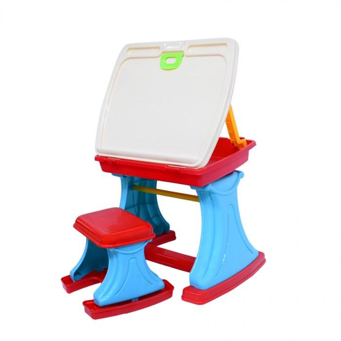 Xiong Cheng Игровой набор столик для творчества с табуреткойИгровой набор столик для творчества с табуреткойXiong Cheng Игровой набор столик для творчества с табуреткой подходит как для мальчика, так и для девочки.   В комплекте: столик  табуреточка  набор фигурок   Материал пластмасса Размер игрушки столик 46.5х38.5х43 см<br>