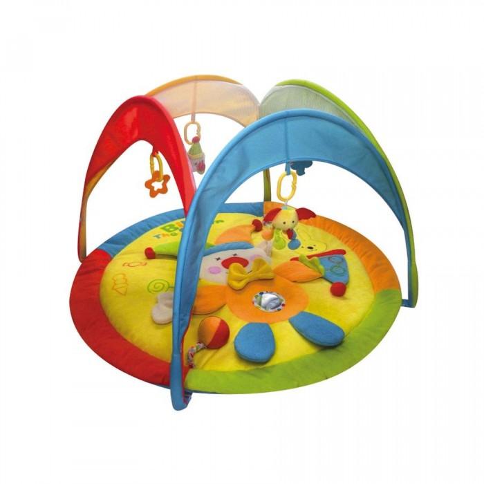 Развивающий коврик Calida В циркеВ циркеCalida Развивающий коврик Calida в цирке порадует вашего малыша яркими цветами, приятными материалами и множеством интересных деталей. Этот веселый коврик помогает развить у карапуза зрительное восприятие, тактильные ощущения и даже различные физические навыки: пытаясь достать игрушки, малыш развивает все группы мышц, учится вставать и сидеть.   Характеристики: Изготовлен из мягкой велюровой ткани Множество интересных элементов Яркие цвета и красочные картинки Съемные игрушки-погремушки Все тканевые детали можно стирать Компактен для хранения и транспортировки  Возраст: 0+ Размер: 93 х 93 х 50 см<br>