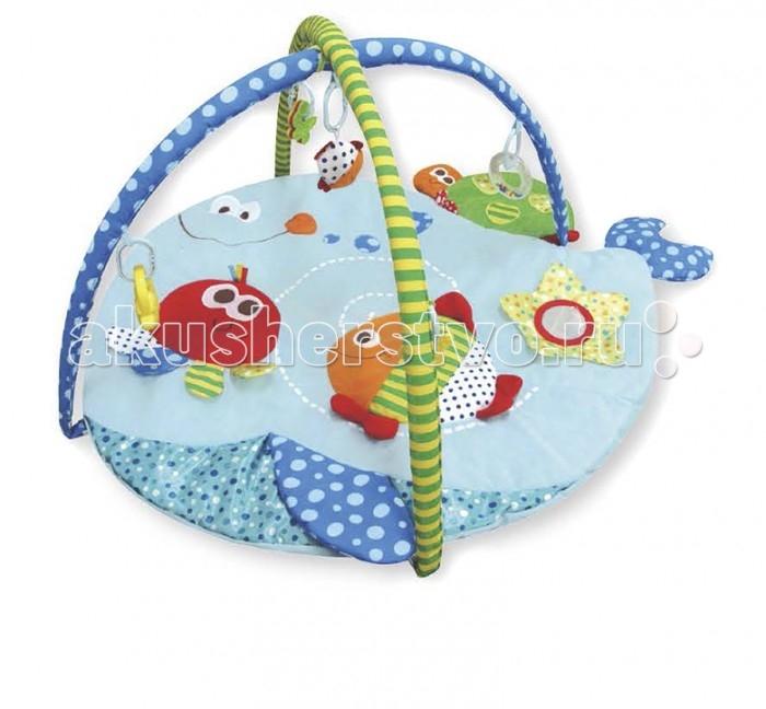 Развивающий коврик Calida Морские друзьяМорские друзьяCalida Развивающий коврик Calida Морские друзья порадует вашего малыша яркими цветами, приятными материалами и множеством интересных деталей. Этот веселый коврик помогает развить у карапуза зрительное восприятие, тактильные ощущения и даже различные физические навыки: пытаясь достать игрушки, малыш развивает все группы мышц, учится вставать и сидеть.   Характеристики: Изготовлен из мягкой набивной ткани Коврик в форме рыбки Яркие цвета и красочные картинки Игрушки-погремушки Множество занимательных элементов Все тканевые детали можно стирать Компактен для хранения и транспортировки  Возраст: 0+ Размер: 110 х 85 х 48 см<br>