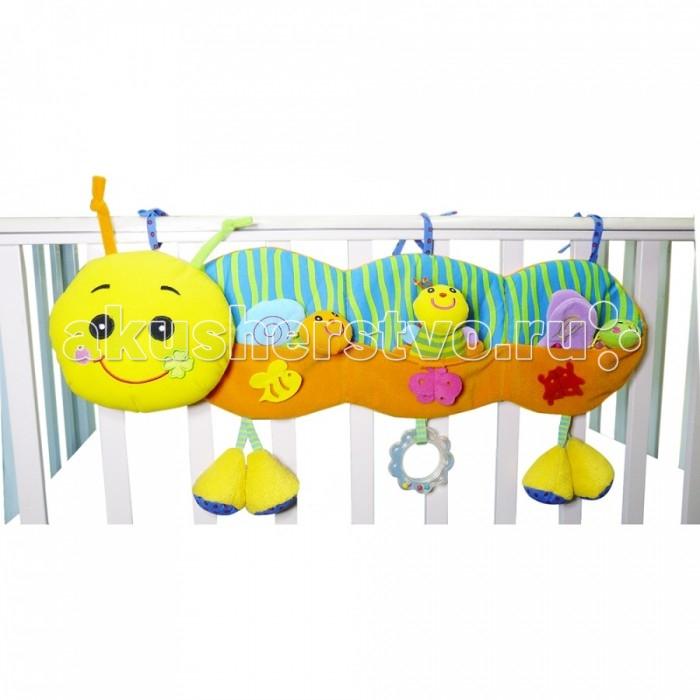 Подвесная игрушка Biba Toys Улитка GD018Улитка GD018Biba Toys Подвесная игрушка Улитка GD018  Веселая, яркая игрушка С погремушкой, с прорезывателем Размер: 32 x 32.5 x 35 см<br>