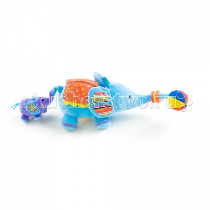 Развивающая игрушка Biba Toys СлоникСлоникBiba Toys Развивающая игрушка Слоник  Мягкая велюровая игрушка Прорезыватель, вибрация, погремушка Зеркало, с элементами шуршания Размер: 36 x 36 x 36 см<br>