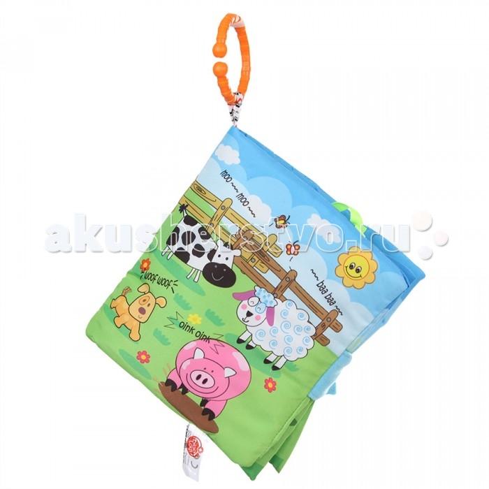 Biba Toys Книжка-игрушка Счастливая фермаКнижка-игрушка Счастливая фермаBiba Toys Книжка-игрушка Счастливая ферма  Яркая, мягкая, велюровая, многофункциональная развивающая игрушка-книжка С подвесными мягкими игрушками С элементами шуршания Размер: 40 x 44 см<br>