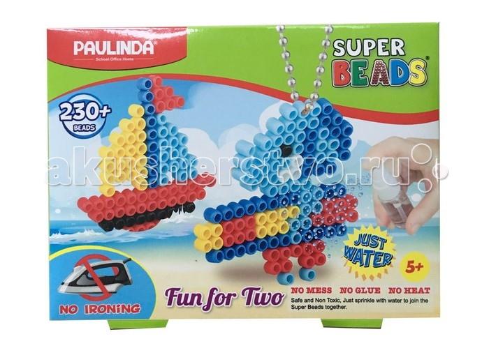Paulinda Мозаика 2 в 1 Super Beads - Кораблик и слоник 230 элементовМозаика 2 в 1 Super Beads - Кораблик и слоник 230 элементовPaulinda Мозаика 2 в 1 Super Beads - Кораблик и слоник 230 элементов позволит ребенку собрать сразу две фигурки: кораблика и слоник. В наборе 230 деталей, которые можно соединить друг с другом с помощью обычной воды - не нужно использовать какие-либо дополнительные приспособления, например, клей или утюг. Сборка мозаики не представляет особой трудности, поэтому ребенок может самостоятельно создать фигурки.  Возраст: от 5 лет Комплект: планшет-основа, 1 шаблон, 1 бусинка, 1 цепочка, 1 колечко, более 230 элементов мозаики, 1 инструмент для нанесения деталей.<br>