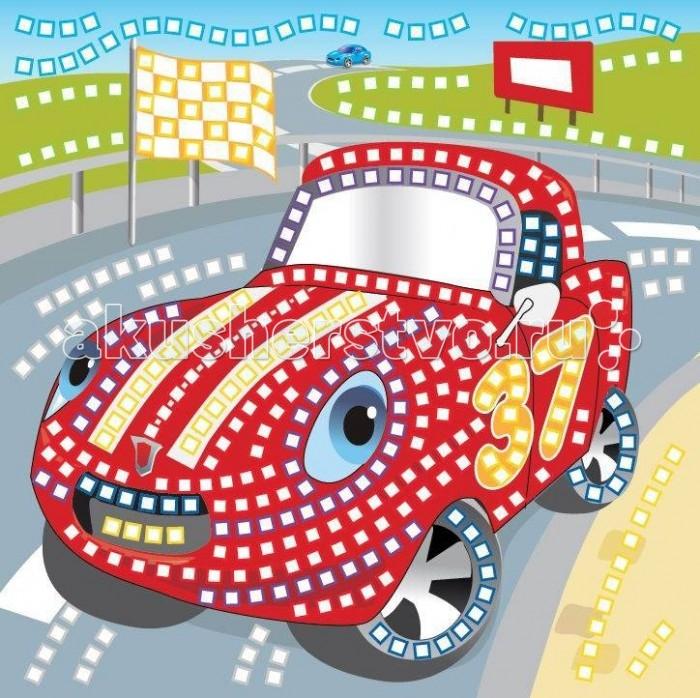 Funnivation Самоклеящаяся мозаика Гоночная машинка 400 элементовСамоклеящаяся мозаика Гоночная машинка 400 элементовFunnivation Самоклеящаяся мозаика Гоночная машинка 400 элементов   Симпатичная красная машинка из набора для составления мозаики понравится любому мальчику. Ведь этот автомобиль изображен стоящим на гоночной трассе! Скорее всего, красная машина первой пришла к финишу, так так позади нее виднеется другая машина голубого цвета Собирая мозаику из маленьких цветных деталей-квадратиков, ребенок останется довольным результатом, так как картинка получится объемной благодаря тому, что эти детали покрыты блеском. Такие наборы для составления мозаики очень удобны тем, что при работе не нужны клей и ножницы. На картонную основу нужно наклеить самоклеящиеся детали, соответствующие цвету на основе. Детали, выполненные из пены ЭВА, не рвутся, не линяют, безопасны для здоровья.  Возраст: от 5 лет Количество деталей: 200  Комплект: основа с рисунком и схемой размещения квадратиков, блестящие разноцветные квадратики из мягкого пластика на самоклеящейся основе - 6 листов. Размер упаковки: 26 х 29 х 2 см. Размер игрушки: 25 х 25 см.<br>