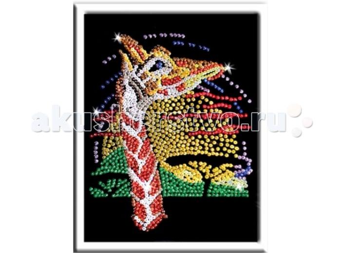 Волшебная мастерская Набор для творчества Мозаика из пайеток - ЖирафНабор для творчества Мозаика из пайеток - ЖирафВолшебная Мастерская Набор для творчества Мозаика из пайеток - Жираф   В этом наборе для творчества имеется все необходимое, что может понадобиться при создании красивой и интересной поделки - мозаики из пайеток. Способ работы довольно прост: к пенопластовой основе крепится фон с точечным рисунком, а затем к нему же, в соответствии с цветами, прикрепляются пайетки. Стоит отметить, что получившуюся поделку можно повесить в специальной рамке на стену, где она будет весьма стильно смотреться.  Возраст: от 7 лет Комплект: планшет из пенопласта, фон с нанесенным точечным рисунком, разноцветные пайетки, гвоздики, подробная схема-инструкция, рамка из пенопласта. Размер готовой поделки: 27 х 36 см.<br>