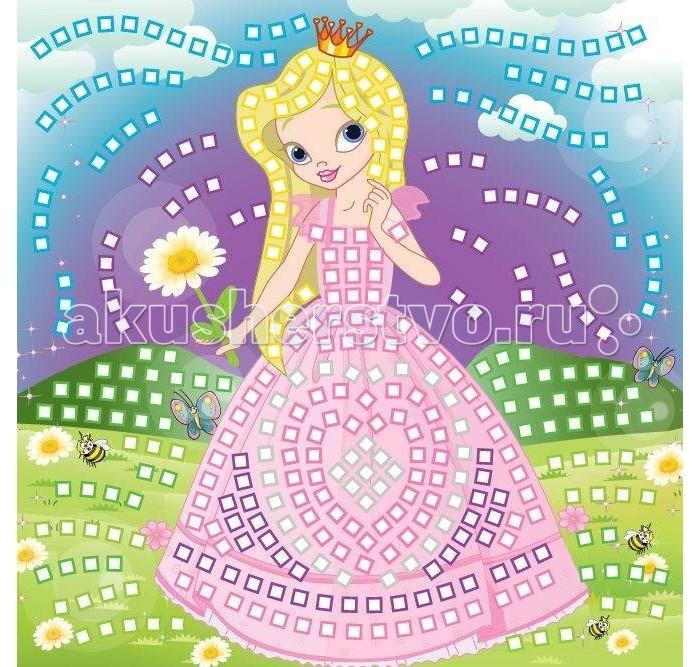 Funnivation Самоклеящаяся мозаика Принцесса 400 элементовСамоклеящаяся мозаика Принцесса 400 элементовFunnivation Самоклеящаяся мозаика Принцесса 400 элементов  Нежная принцесса из набора для самоклеящейся мозаики одета в платье розового цвета. В руках у нее цветок, а вокруг нее летают пчелки и бабочки. О том, что она принцесса свидетельствует маленькая корона, украшающая ее голову. Маленькой девочке очень понравится собирать такую мозаику потому что детали-квадратики из которых она состоит, покрыты блестком. И сама принцесса, и все, что ее окружает засияет как россыпь драгоценных камней, освещенная лучами солнца. Такие наборы для составления мозаики очень удобны тем, что при работе не нужны клей и ножницы. На картонную основу нужно наклеить самоклеящиеся детали, соответствующие цвету на основе. Детали, выполненные из пены ЭВА, не рвутся, не линяют, безопасны для здоровья.  Возраст: от 5 лет Количество деталей: 400 шт. Комплект: основа с рисунком и схемой размещения квадратиков, блестящие разноцветные квадратики из мягкого пластика на самоклеящейся основе - 6 листов. Размер игрушки: 25 х 25 см.<br>