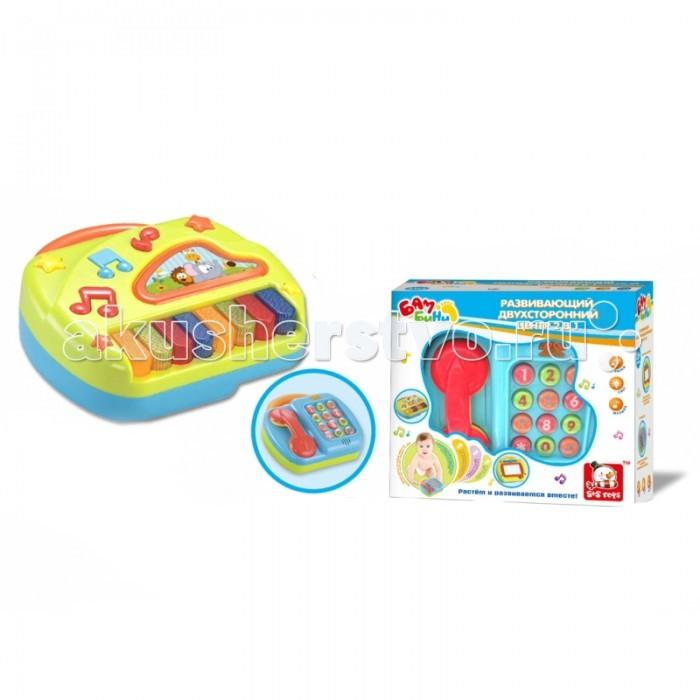 Развивающая игрушка S+S Toys Телефон и пианино со светом, звуком 2 в 1Телефон и пианино со светом, звуком 2 в 1S+S Toys Игрушка для малышей BAMBINI 2 в 1 Развивающий телефон и пианино со светом, звуком развивающий многофункциональный центр 2 в 1 телефон и пианино обязательно понравится вашему малышу, ведь можно нажимать на клавиши и слушать веселую музыку - или снять трубку телефона и позвонить кому-нибудь!   Красочная расцветка, оригинальный дизайн, яркие световые и задорные звуковые эффекты - все это не только поднимет малышу настроение, но и поможет с пользой провести время, развивая мелкую моторику и улучшая координацию движений.<br>