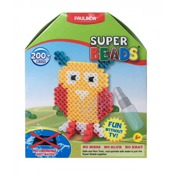 Paulinda Мозаика Super Beads - Сова 200 элементовМозаика Super Beads - Сова 200 элементовPaulinda Мозаика Super Beads - Сова 200 элементов ребенок соберет забавную фигурку в виде совы. В набор входят различные инструменты, а также более 200 элементов для создания этой замечательной пластмассовой птички. Для соединения деталей не нужен клей, так как в наборе предусмотрен пульверизатор, с помощью которого фигурка опрыскивается водой и не рассыпается. Сборка такой интересной мозаики организует детский досуг и поможет развить в ребенке усидчивость и творческие способности.   Возраст: от 5 лет Количество деталей: 200 шт. Комплект: планшет-основа, шаблон, инструмент для нанесения деталей, пульверизатор для воды.<br>