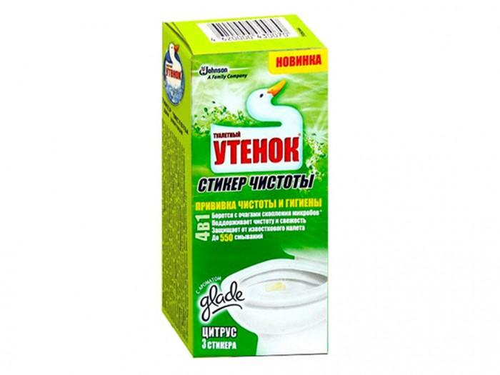 Туалетный Утенок Стикер чистоты Цитрус 3 шт.