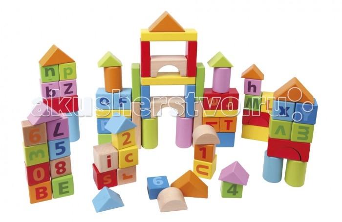 Деревянная игрушка Hape Конструктор 80 деталей Е8022