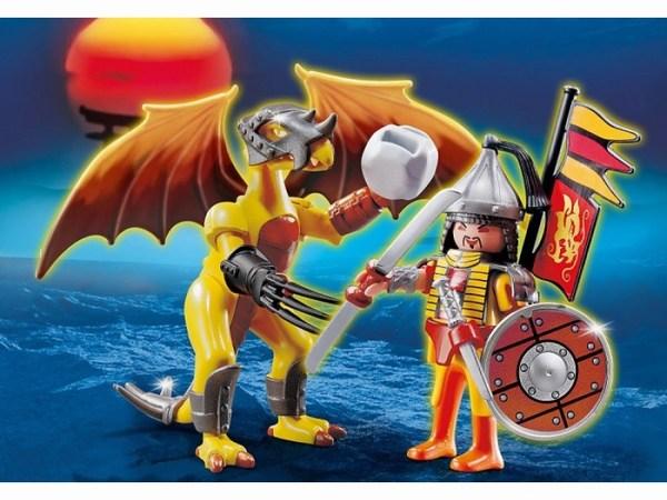 Игровые наборы Playmobil Игровой набор Каменный дракон с воином