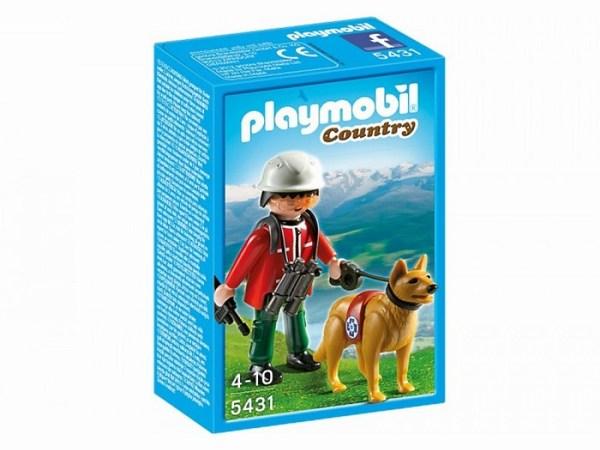 Игровые наборы Playmobil Игровой набор В горах: Спасатель с собакой