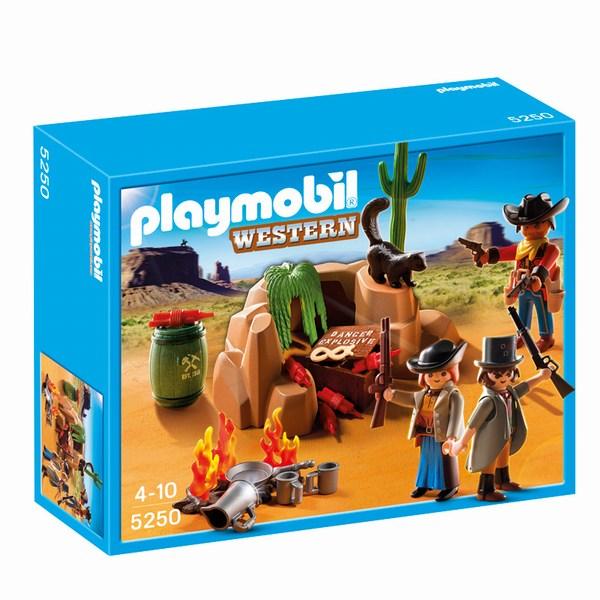 Игровые наборы Playmobil Игровой набор Дикий запад: Переселенцы с костром и динамитом