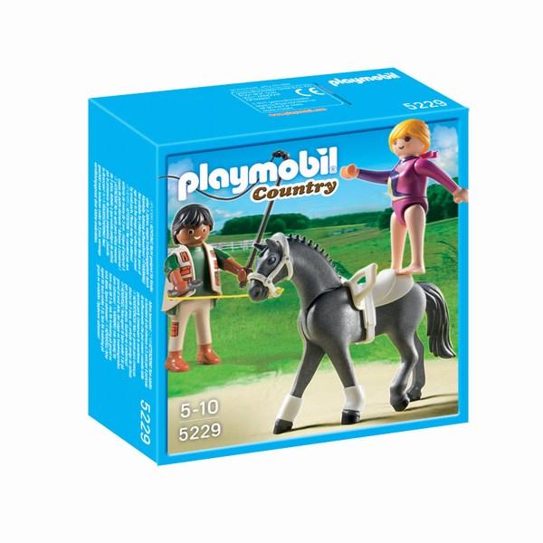 Игровые наборы Playmobil Игровой набор Лошади: Наездница-эквилибриства на лошади