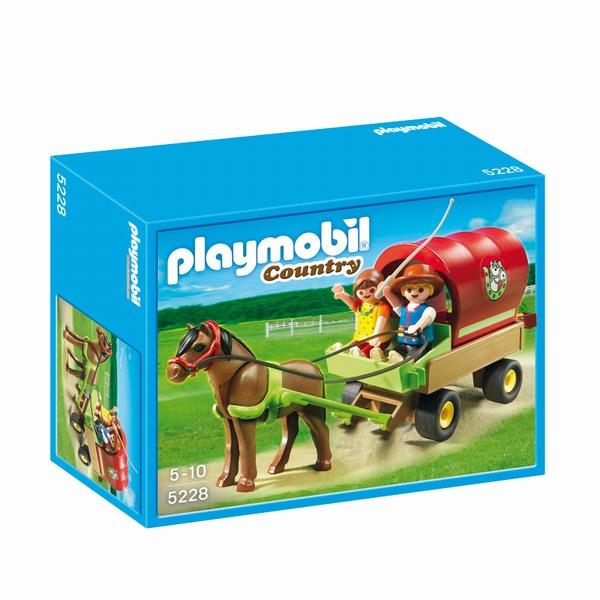 Игровые наборы Playmobil Игровой набор Лошади: Детский вагончик с пони
