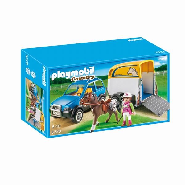 Игровые наборы Playmobil Игровой набор Лошади: Джип с трейлером для перевозки лошадей
