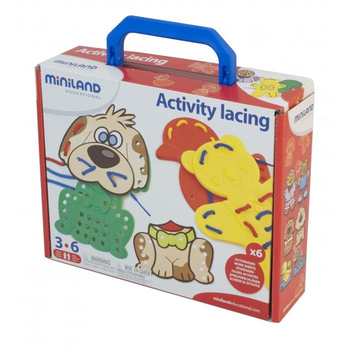 Развивающие игрушки Miniland Шнуровка Животные в чемодане 95281