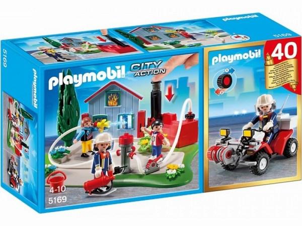 Конструктор Playmobil Набор пожарные и карт