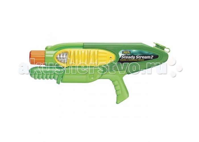 Buzzbee Водное оружие ВодометВодное оружие ВодометBazzbi Водное оружие Водомет которое стреляет водой. Вода набирается через специальное отверстие, а стрельба начинается при надавливании на курок. Для того чтобы стрелять, необходимо постоянно работать ручной помпой. Такой вид детского оружия лучше всего подходит для игр в теплое время года.  Особенности: ёмкость для воды 0.75 л дальность стрельбы до 11.5 м<br>