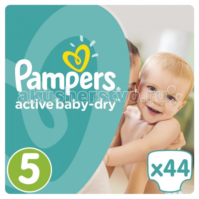 Pampers ���������� Active Baby Dry Junior �.5 (11-18 ��) 44 ��.