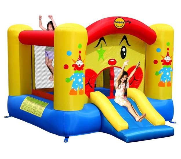 Надувные батуты Happy Hop Надувной батут с горкой Забавный клоун 9201