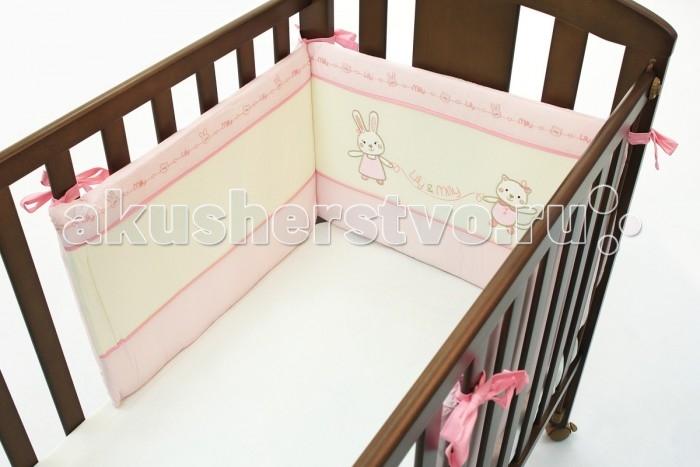 Бампер для кроватки Funnababy Lily Milly короткий для кровати 120x60 см